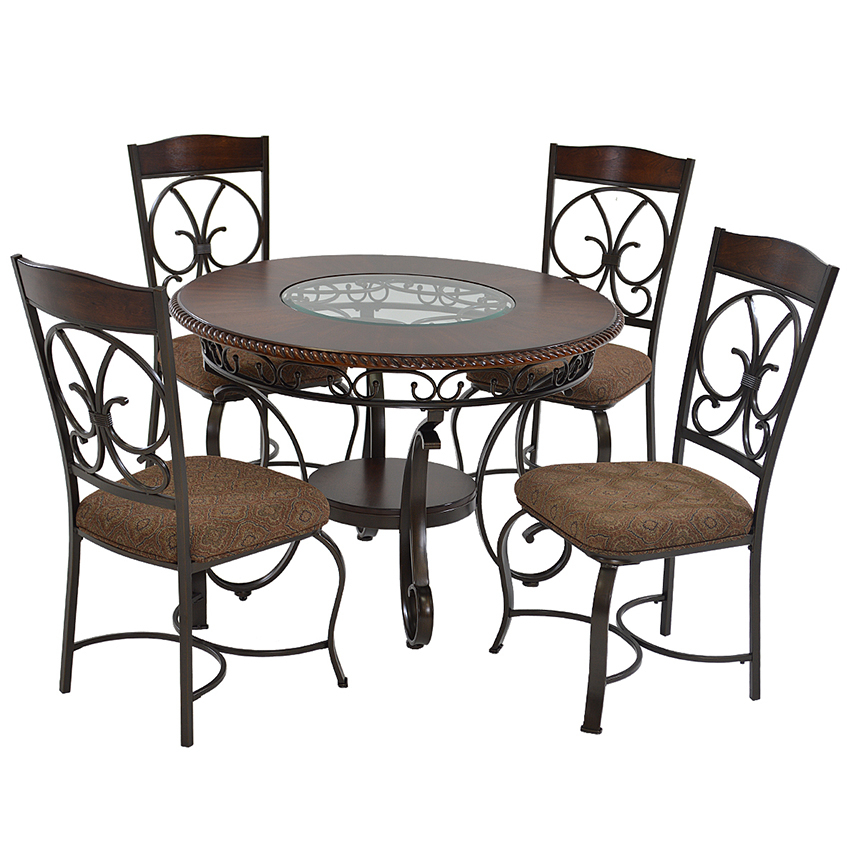 Glambrey 5 Piece Casual Dining Set Throughout 5 Piece Dining Sets (Image 11 of 25)