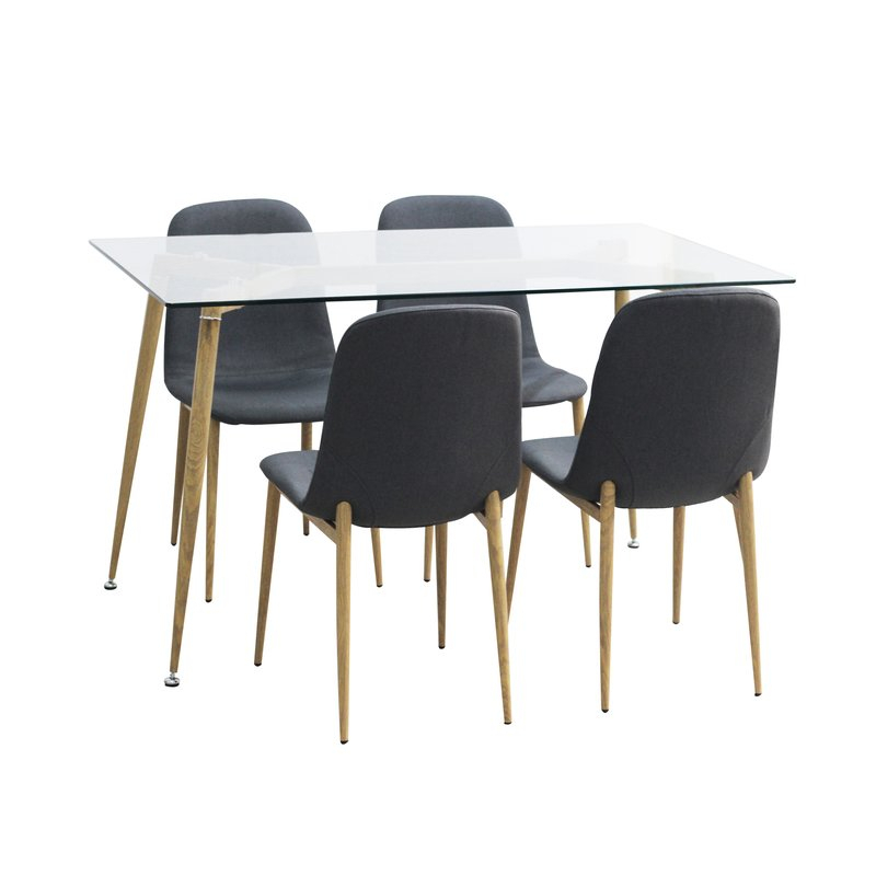 Goodman 5 Piece Dining Set In Goodman 5 Piece Solid Wood Dining Sets (Set Of 5) (Photo 7 of 25)