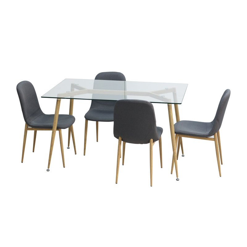 Goodman 5 Piece Dining Set within Goodman 5 Piece Solid Wood Dining Sets (Set Of 5)