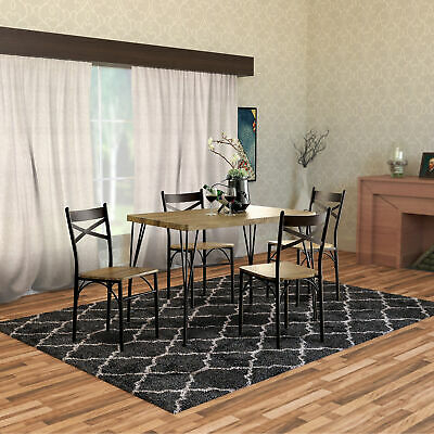 Gracie Oaks Autberry 5 Piece Dining Set – $ (View 13 of 25)