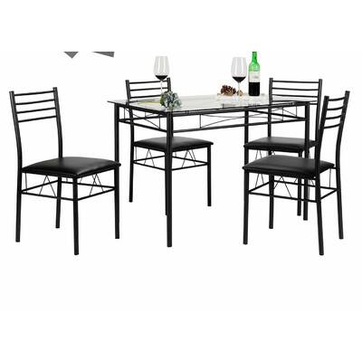 Gracie Oaks Emmeline 5 Piece Breakfast Nook Dining Set & Reviews With Emmeline 5 Piece Breakfast Nook Dining Sets (View 12 of 25)