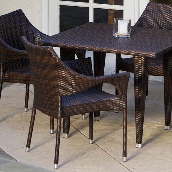 Great Deal Furniture Del Mar Outdoor Dining Set (5  Or 7 Piece) Inside Delmar 5 Piece Dining Sets (Image 15 of 25)