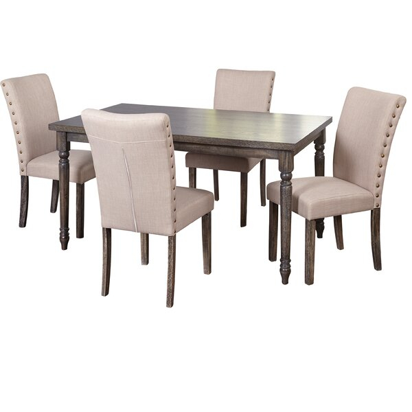Great Price Damon Parsons 5 Piece Dining Setophelia & Co (View 22 of 25)