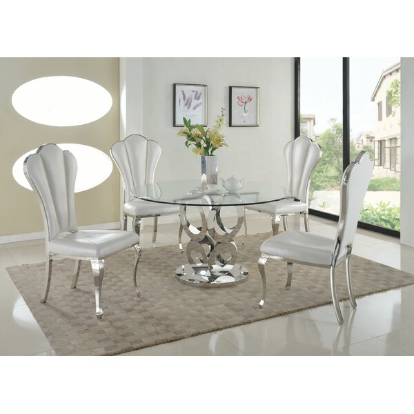 Great Price Domaine 7 Piece Extendable Solid Wood Dining Set with regard to Tavarez 5 Piece Dining Sets