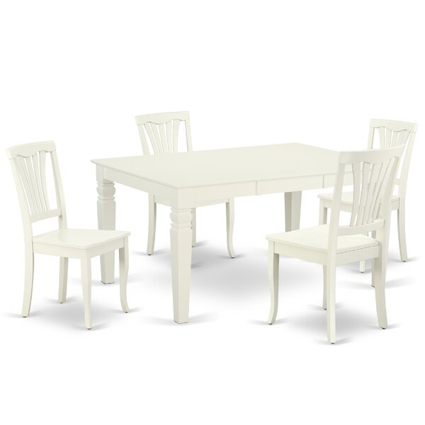 Great Price Kylie 5 Piece Dining Set17 Stories Top Reviews within Adan 5 Piece Solid Wood Dining Sets (Set Of 5)