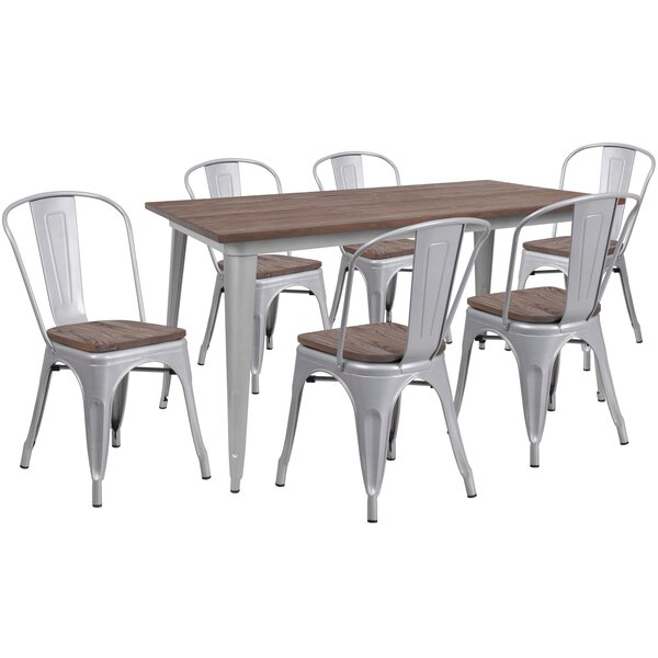 Great Price Penmoor 7 Piece Dining Setred Barrel Studio Savings For Poynter 3 Piece Drop Leaf Dining Sets (View 15 of 25)