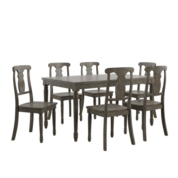 Great Price Petrucci Reclaimed Wood 7 Piece Dining Setalcott regarding Northwoods 3 Piece Dining Sets