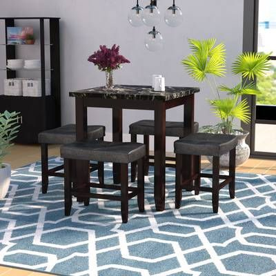 Greenbank 5 Piece Bar Height Dining Set In 2019 | Apartment Ideas In Middleport 5 Piece Dining Sets (View 7 of 25)