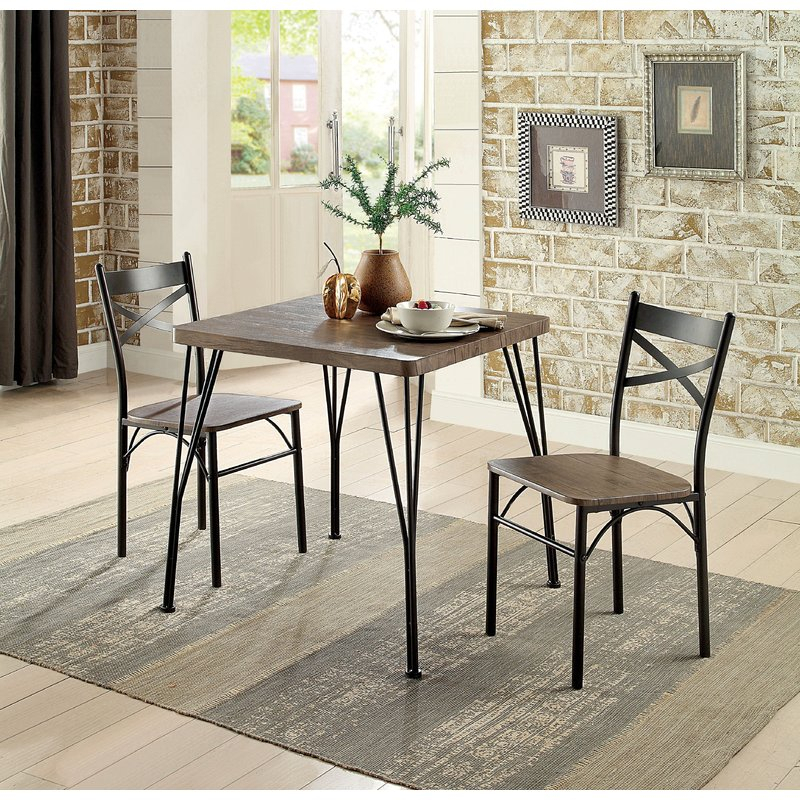 Guertin 3 Piece Dining Set intended for 3 Piece Dining Sets