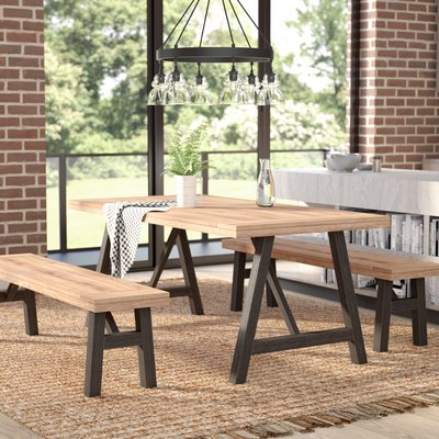 Guillaume 3 Piece Dining Set With Rossiter 3 Piece Dining Sets (Image 11 of 25)