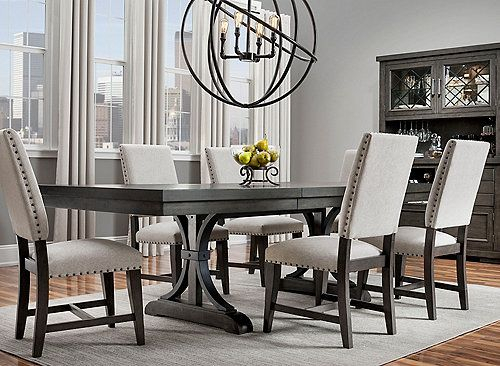 Halloway 7 Pc. Dining Set In 2019 | Home | Dining Room Furniture Intended For Chelmsford 3 Piece Dining Sets (Photo 5 of 25)