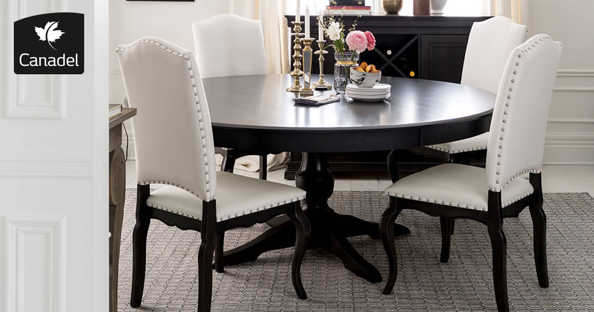 Handcrafted In North America - Kitchen And Dining Room - Canadel regarding North Reading 5 Piece Dining Table Sets