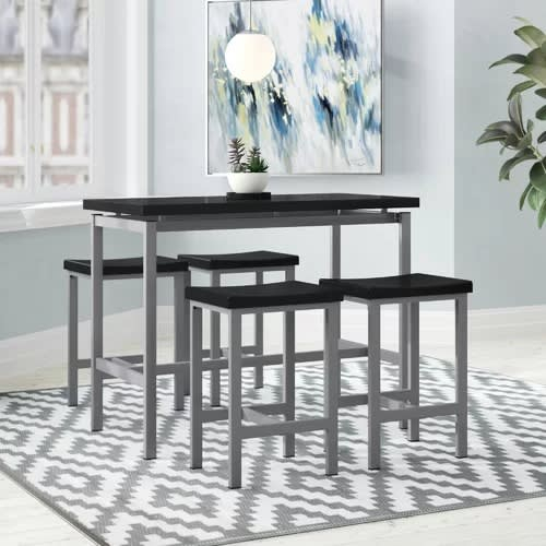 Handys Askern 3 Piece Counter Height Dining Set | Konga Online Shopping within Askern 3 Piece Counter Height Dining Sets (Set Of 3)