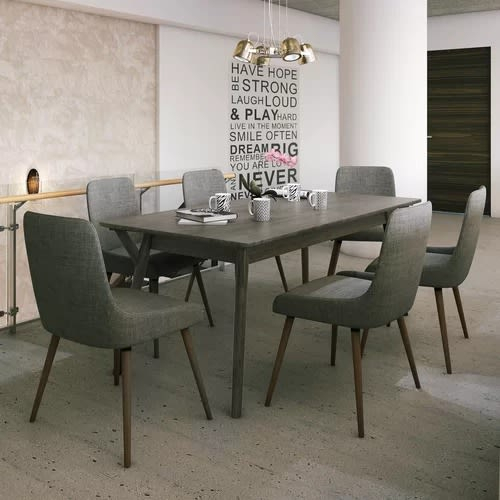 Handys Rumi Solid Wood 7 Piece Dining Set- Blue | Konga Online Shopping within Chelmsford 3 Piece Dining Sets