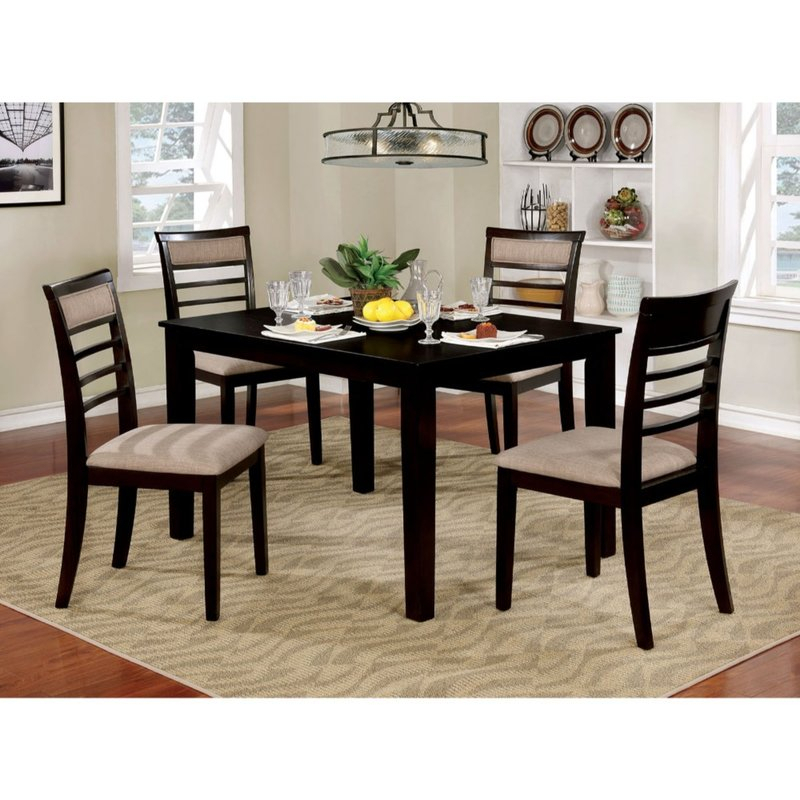 Hanska Wooden 5 Piece Counter Height Dining Table Set For Hanska Wooden 5 Piece Counter Height Dining Table Sets (Set Of 5) (Image 10 of 25)