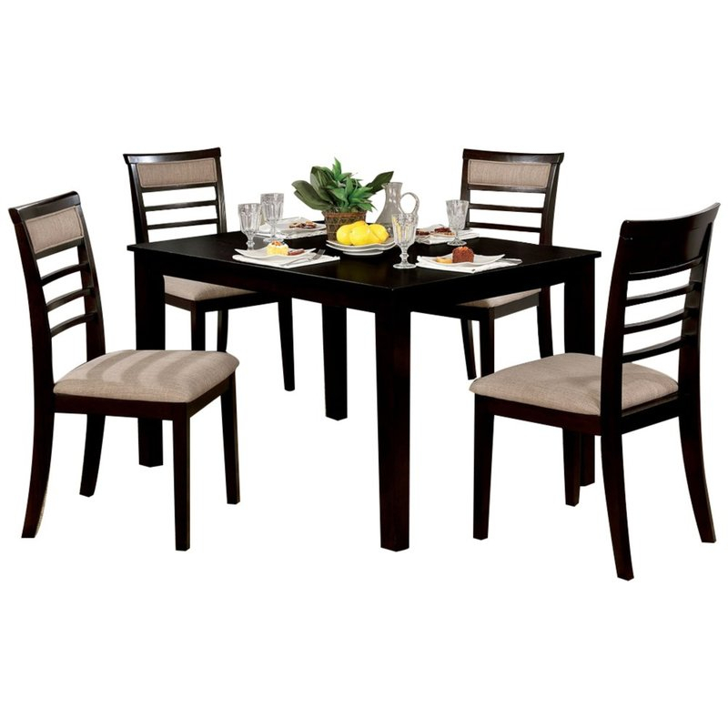 Featured Image of Hanska Wooden 5 Piece Counter Height Dining Table Sets (Set Of 5)