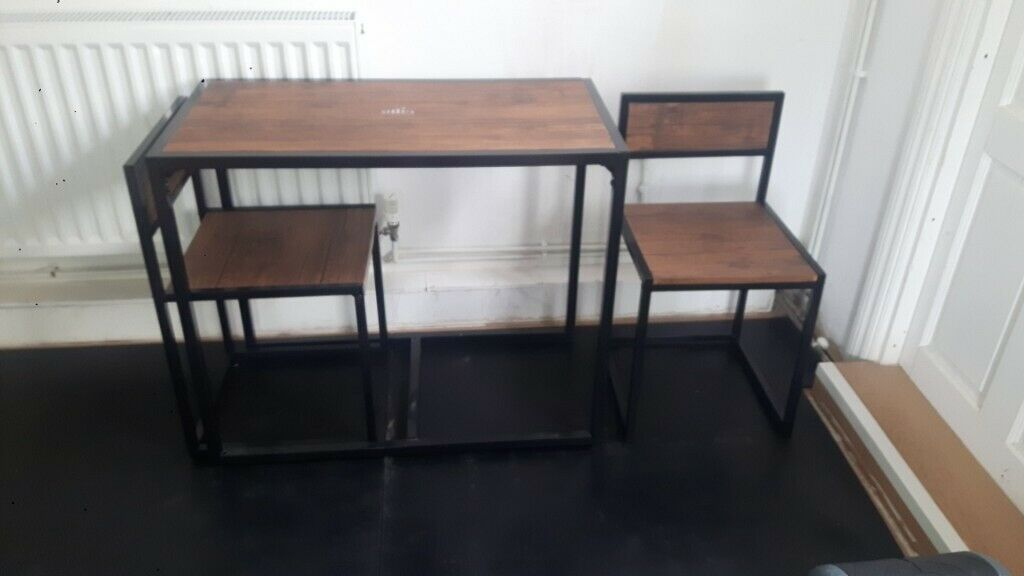 Harbour Housewares 2 Person Space Saving, Compact, Kitchen Dining Table &  Chairs Set | In Golders Green, London | Gumtree With Lonon 3 Piece Dining Sets (Photo 13 of 25)