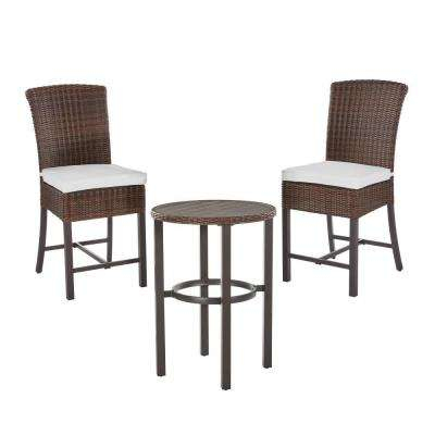 Harper Creek 3-Piece Outdoor Bar Height Dining Set With Cushions Included Choose Your Own Color regarding Cincinnati 3 Piece Dining Sets