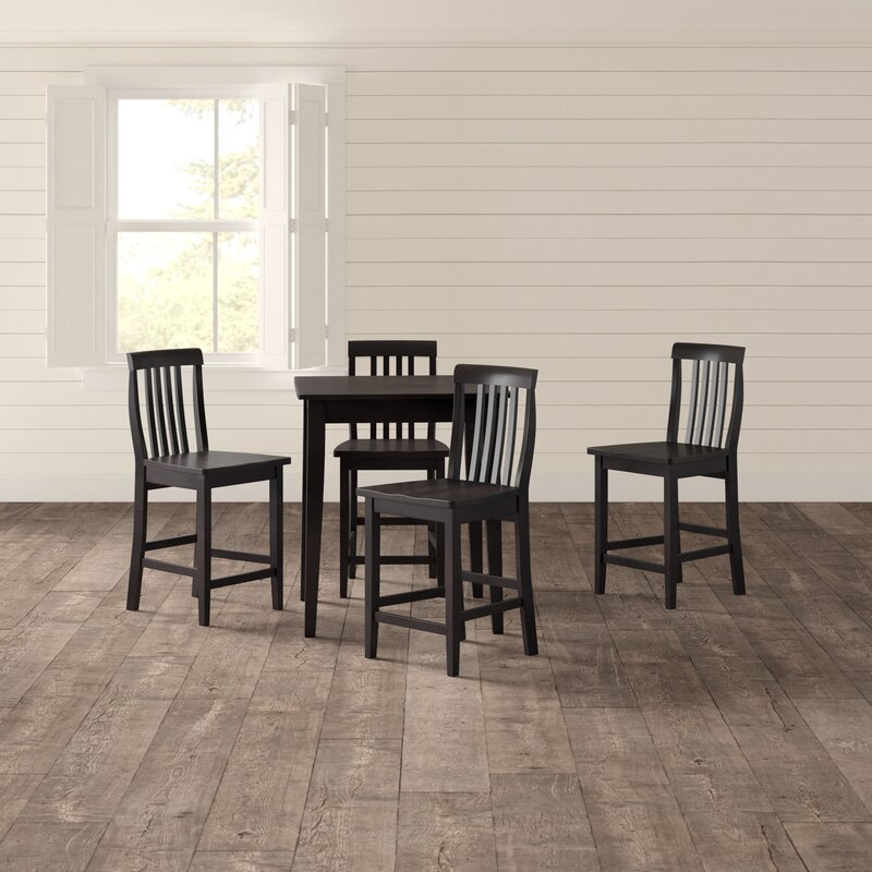 Haslingden 5 Piece Pub Dining Set Intended For Smyrna 3 Piece Dining Sets (View 21 of 25)
