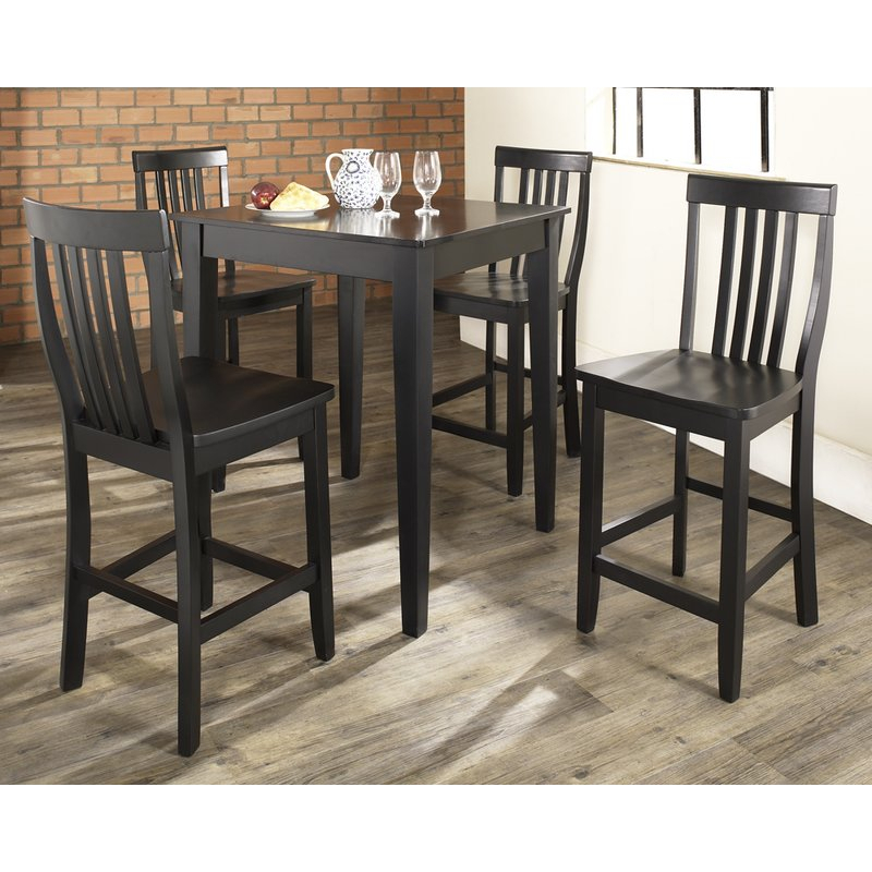 Haslingden 5 Piece Pub Dining Set With Smyrna 3 Piece Dining Sets (View 25 of 25)