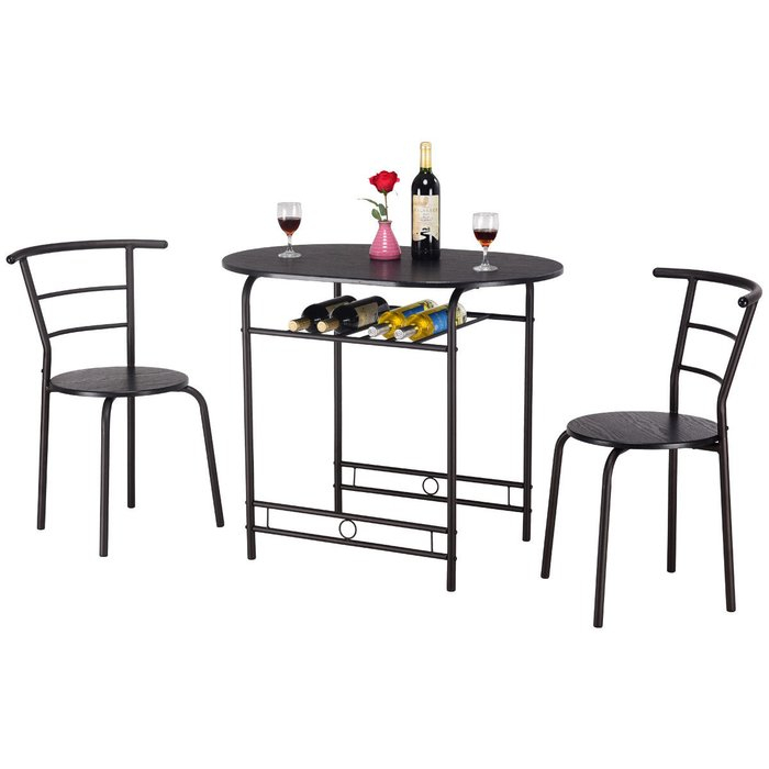 Hassinger 3 Piece Dining Set Regarding Honoria 3 Piece Dining Sets (Photo 23 of 25)