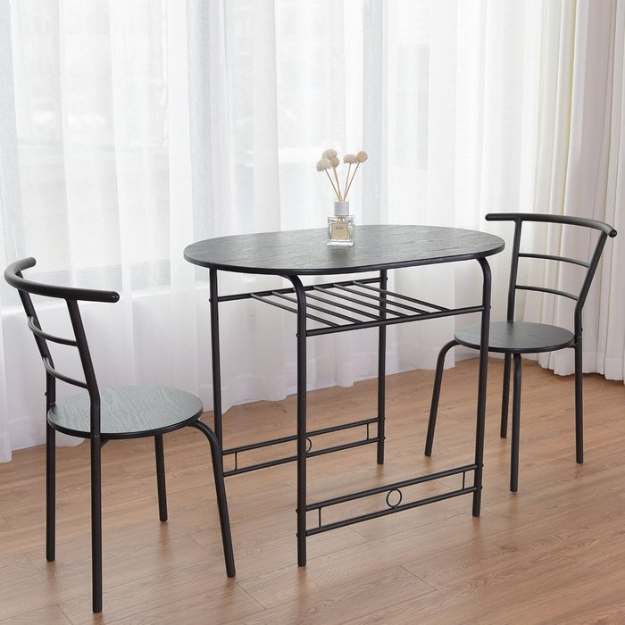 Hassinger 3 Piece Dining Set Regarding Honoria 3 Piece Dining Sets (Image 12 of 25)