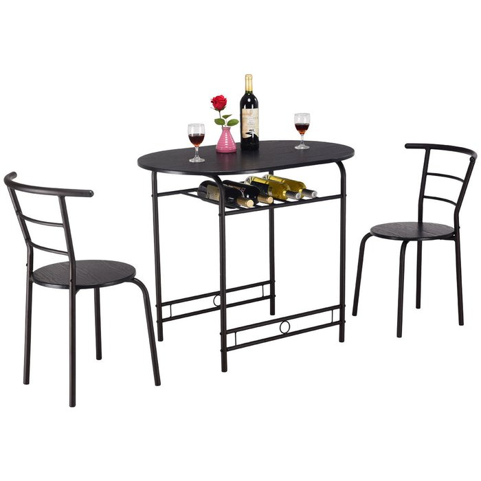 Hassinger 3 Piece Dining Set Throughout Honoria 3 Piece Dining Sets (Image 14 of 25)