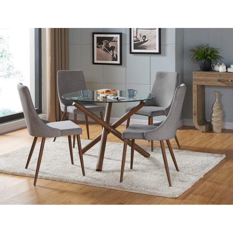 Helsdon 5 Piece Dining Set within Travon 5 Piece Dining Sets