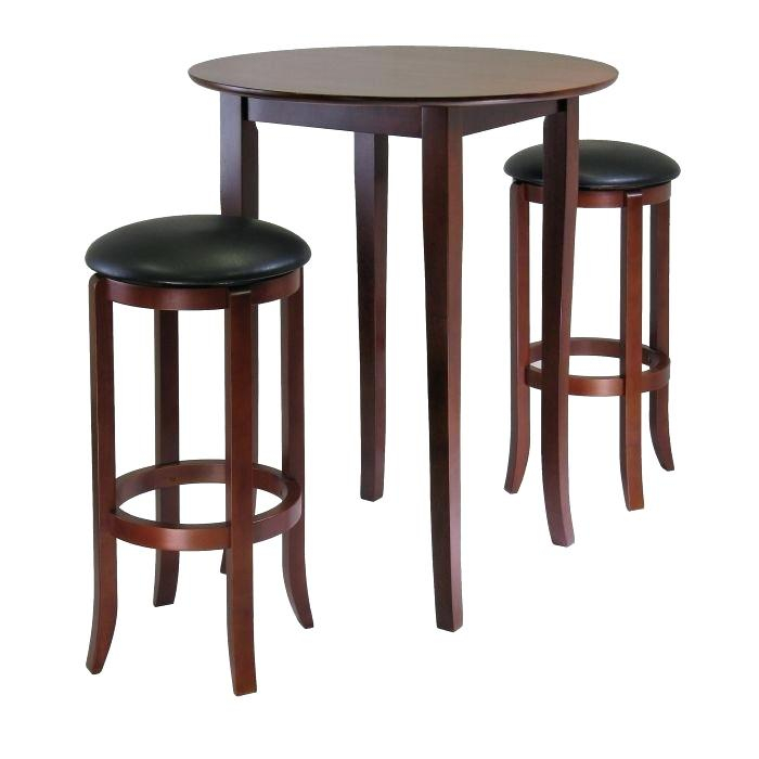 High Top Bistro Table And Chairs Counter Height Pub Set With Bench Inside Winsome 3 Piece Counter Height Dining Sets (View 20 of 25)