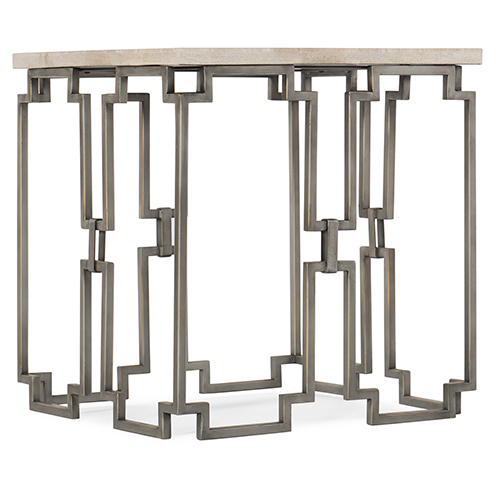 Hooker Furniture Emmeline Beige End Table Intended For Emmeline 5 Piece Breakfast Nook Dining Sets (View 17 of 25)