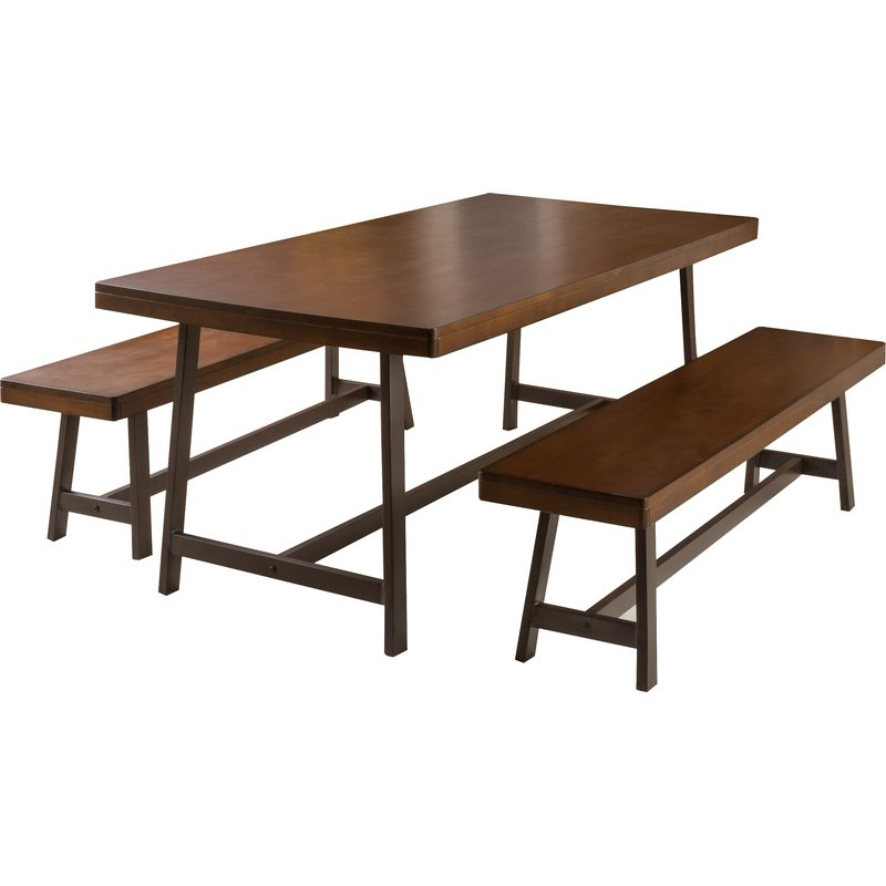 Huntington 3 Piece Dining Set inside 3 Piece Dining Sets