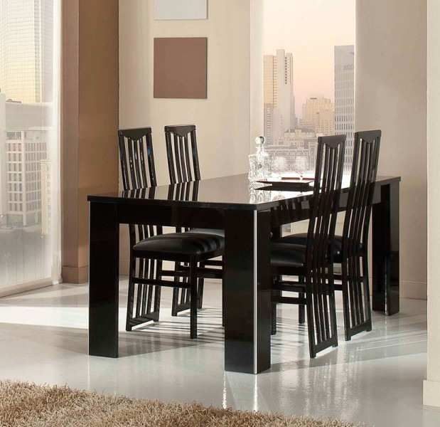 Ideal Italian Dinner Table And Chairs Of Elite Modern Italian Dining Intended For Ephraim 5 Piece Dining Sets (Image 17 of 25)