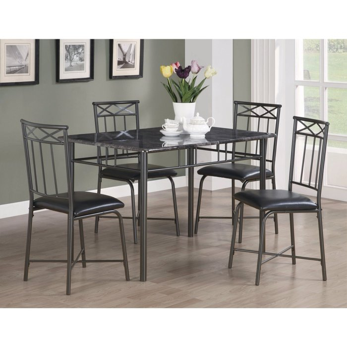 Isbell 5 Piece Dining Set Throughout Reinert 5 Piece Dining Sets (View 6 of 25)