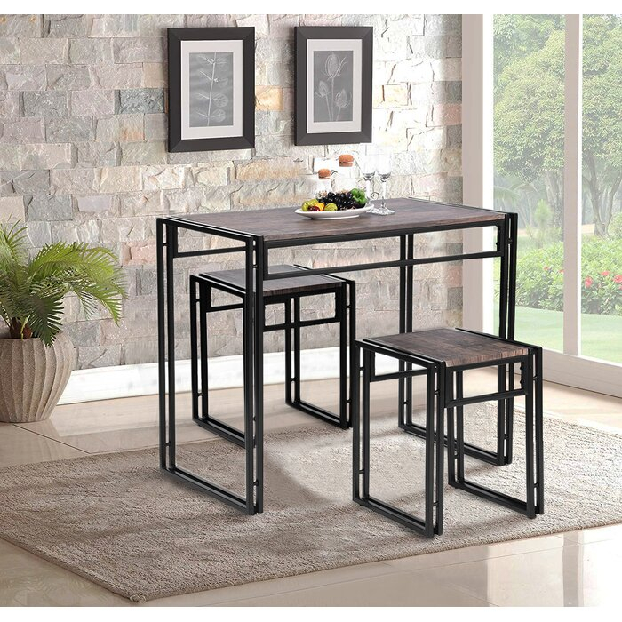 Isolde 3 Piece Dining Set In Isolde 3 Piece Dining Sets (View 5 of 25)