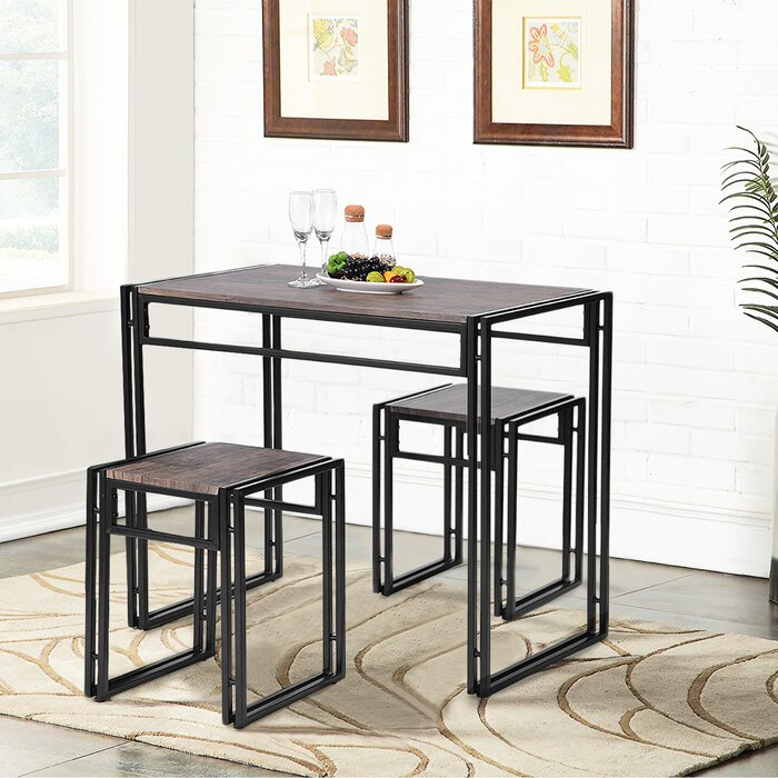 Isolde 3 Piece Dining Set Pertaining To Isolde 3 Piece Dining Sets (View 4 of 25)