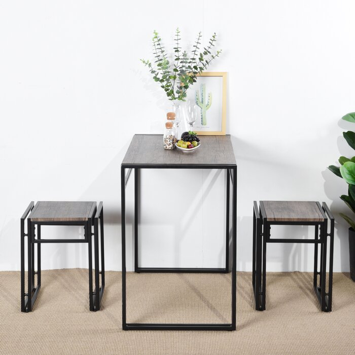Isolde 3 Piece Dining Set With Isolde 3 Piece Dining Sets (View 3 of 25)