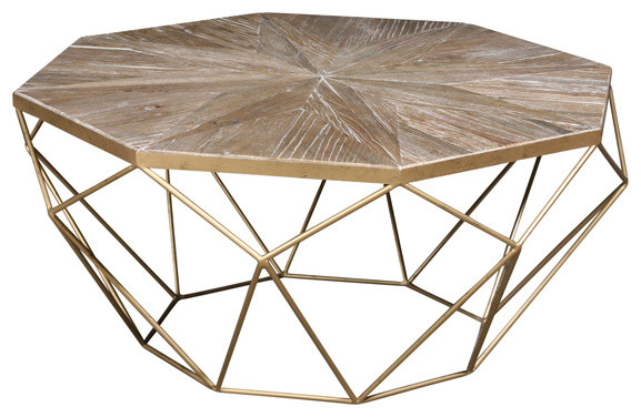 Isolde Coffee Table in Isolde 3 Piece Dining Sets