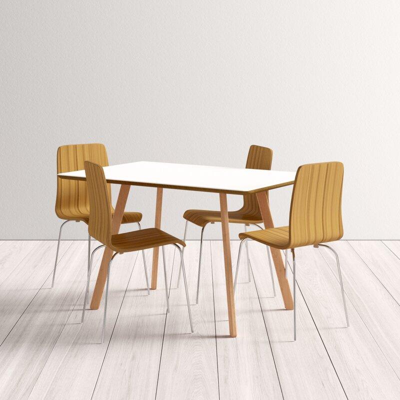 Jaqueline 5 Piece Dining Set Throughout Lillard 3 Piece Breakfast Nook Dining Sets (View 18 of 25)