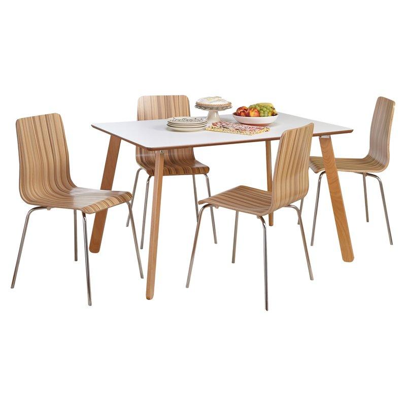 Jaqueline 5 Piece Dining Set with Lillard 3 Piece Breakfast Nook Dining Sets