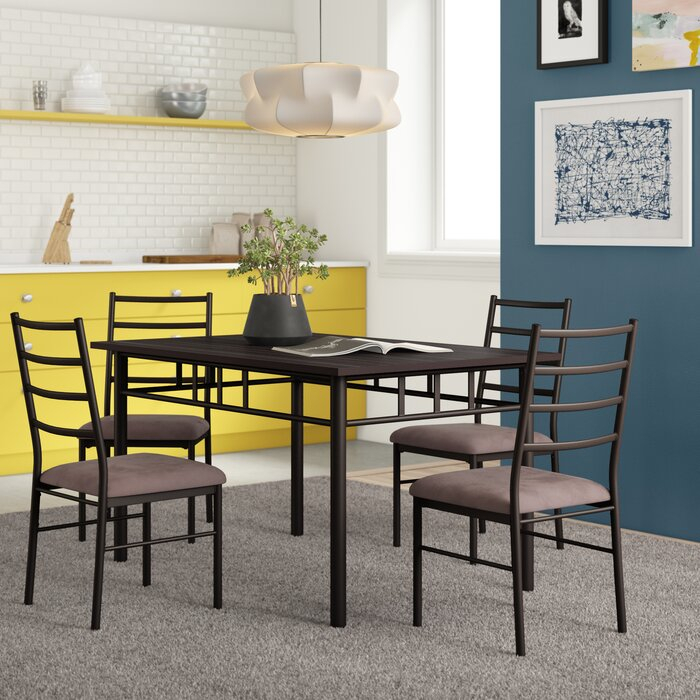 Jarrod 5 Piece Dining Set In Jarrod 5 Piece Dining Sets (View 2 of 25)