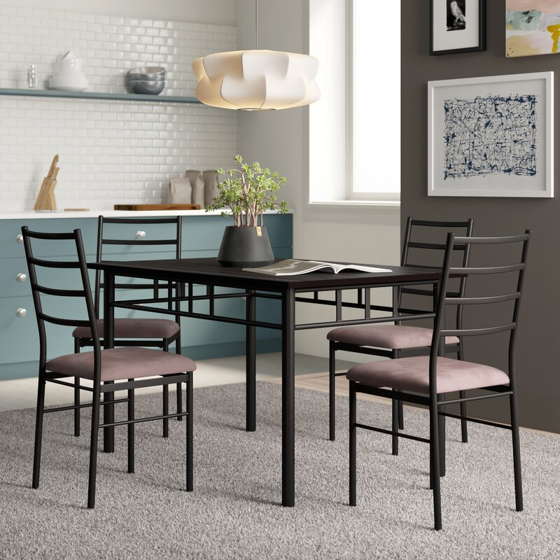 Jarrod 5 Piece Dining Set Throughout Middleport 5 Piece Dining Sets (View 9 of 25)