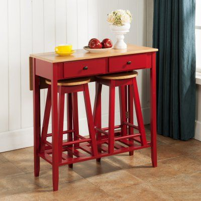 K & B Furniture Burlington 3 Piece Pub Table Set In 2019 | Products In Crownover 3 Piece Bar Table Sets (Image 22 of 25)