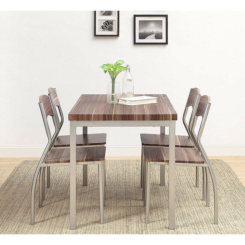 Kaelin 5 Piece Dining Set With Regard To Kaelin 5 Piece Dining Sets (Image 12 of 25)