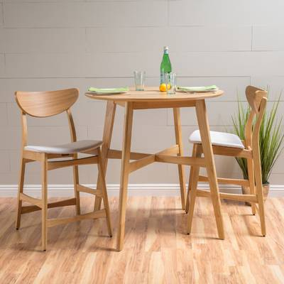 Kerley 4 Piece Solid Wood Dining Set & Reviews | Allmodern In Kerley 4 Piece Dining Sets (View 9 of 25)
