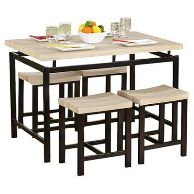 Kerley 4 Piece Solid Wood Dining Set & Reviews | Allmodern with regard to Kerley 4 Piece Dining Sets