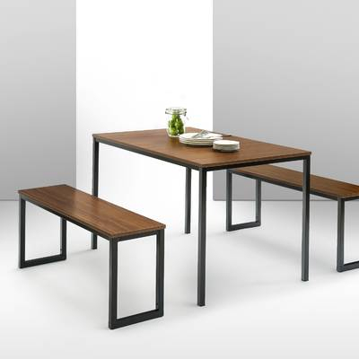 Kerley 4 Piece Solid Wood Dining Set & Reviews | Allmodern With Regard To Kerley 4 Piece Dining Sets (View 6 of 25)