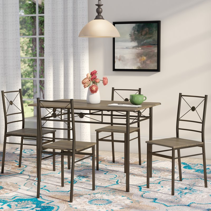 Kieffer 5 Piece Dining Set within Kieffer 5 Piece Dining Sets