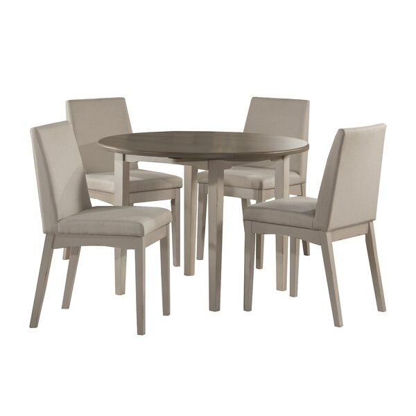 Kinsey Modern 5 Piece Drop Leaf Dining Setrosecliff Heights In Stouferberg 5 Piece Dining Sets (View 13 of 25)
