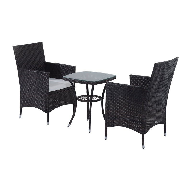 Kinsler 2-Seater Bistro Set With Cushions with Kinsler 3 Piece Bistro Sets
