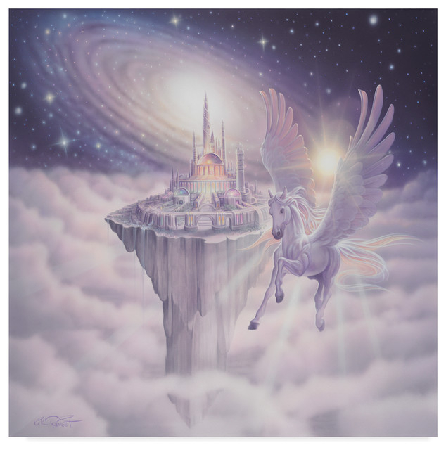 "Kirk Reinert 'castle In The Sky' Canvas Art, 35""x35"" regarding Reinert 5 Piece Dining Sets"